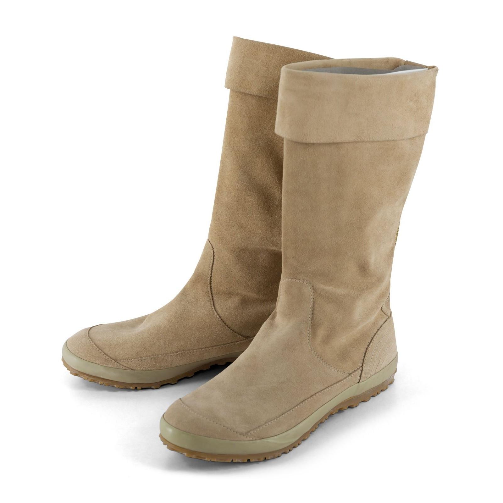 d685b9c2fea0 FORNARINA Damen Stiefel Boots in Hellbraun und Pink mit flexiblen Schaft Leder  Wildleder