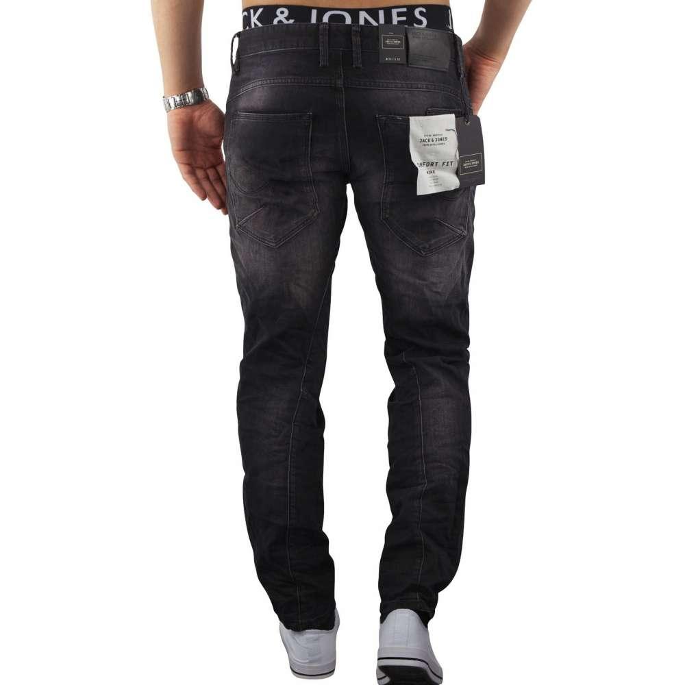 Jack /& Jones Herren Jeans MIKE 314 in Schwarz